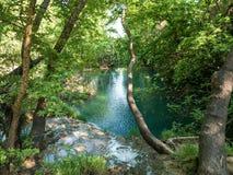 Cascada en Turquía en las montañas de Taunus cerca de Antalya Foto de archivo libre de regalías