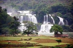 Cascada en Vietnam Imagen de archivo