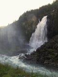 Cascada Espelandsfossen Foto de archivo