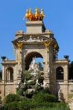 Cascada fontanna w Barcelona obrazy stock