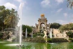 Cascada Fonte Parc de La Ciutadella Barcelona Imagem de Stock