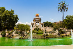 Cascada fountain in Barcelona. Catalonia Stock Photography