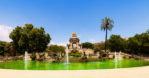 Cascada fountain  in Barcelona Stock Photography