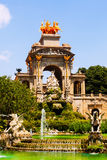 Cascada fountain in Barcelona in sunny day Royalty Free Stock Image