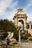 Cascada fountain in Ciutadella Park, Barcelona. Stock Image