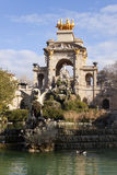 Cascada fountain in Ciutadella Park, Barcelona. Stock Photo