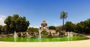 Cascada fountain at Parc de la Ciutadella in Barcelona Stock Photography
