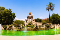 Cascada fountain at Parc de la Ciutadella Royalty Free Stock Photography