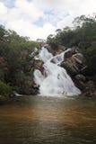 Cascada Goias el Brasil de Cachoeira Santa María Foto de archivo libre de regalías