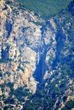 Cascada Grecia del monte Athos Fotos de archivo libres de regalías