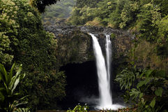 Cascada hawaiana Fotos de archivo libres de regalías