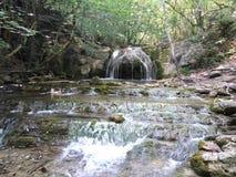 Cascada hermosa en el bosque Imagen de archivo libre de regalías