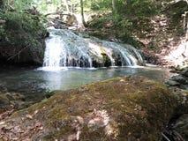 Cascada hermosa en el bosque Foto de archivo libre de regalías