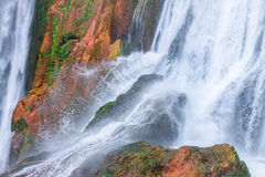 Cascada hermosa en Ouzoud, Azilal, Marruecos Atlas magnífico Fotografía de archivo libre de regalías