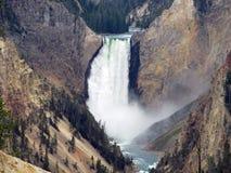 Cascada hermosa en Wyoming Fotografía de archivo