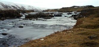 Cascada islandesa Fotos de archivo libres de regalías