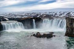 Cascada Islandia de Godafoss Imagenes de archivo