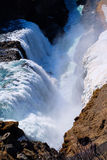 Cascada Islandia de Gullfoss Imágenes de archivo libres de regalías