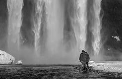 Cascada Islandia de Skogafoss Fotografía de archivo