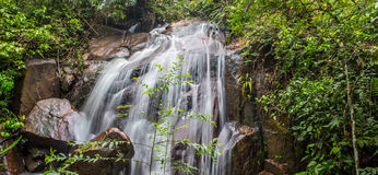 Cascada IV de la selva Foto de archivo libre de regalías