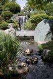 Cascada japonesa del jardín en el jardín botánico de Missouri, ST Louis MO foto de archivo