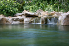 Cascada - jardines botánicos, Singapur Foto de archivo