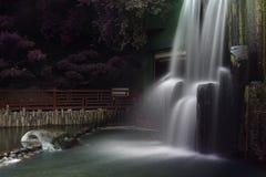 Cascada, ji Lin Nunnery Imagenes de archivo