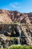 Cascada Jordania de las aguas termales de Ma'in Imagenes de archivo