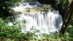 Cascada Kanchanaburi Tailandia Imagen de archivo