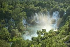 Cascada Kravica en Bosnia y Hercegovina Fotografía de archivo libre de regalías