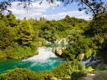 Cascada KRKA en Croatia fotografía de archivo