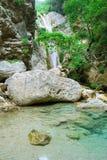 Cascada limpia pura hermosa Imagen de archivo