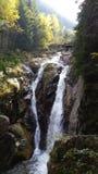 Cascada Lolaia Retezat. Autumn in mountain Retezat Stock Images