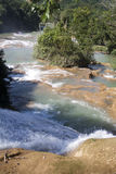 Cascada México del azul del Agua Imagen de archivo libre de regalías