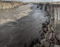 Cascada majestuosa de Selfoss Imagenes de archivo