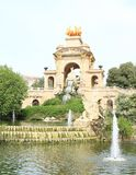 Cascada monumental à Barcelone photo stock