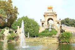 Cascada monumental à Barcelone images stock