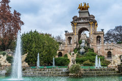 Cascada monumental Barcelona Royalty Free Stock Photos