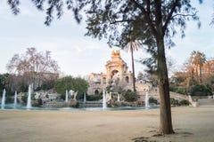 Cascada Monumentalny w Ciutadella parku w Barcelona, Hiszpania obrazy stock