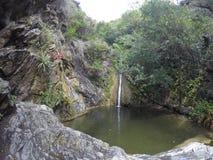 Cascada na casa Bamba, rdoba do ³ de CÃ, Argentina fotografia de stock