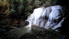 Cascada Namtok Thung Nang Khruan de Thung Nang Khruan en bosque profundo almacen de metraje de vídeo