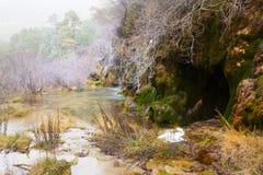 Cascada natural en el río Cuervo Fotos de archivo libres de regalías