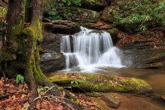 Cascada ocultada en el norte del estado Carolina del Sur Fotografía de archivo libre de regalías