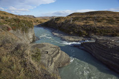 Cascada Paine in Torres del Paine, Chile Royalty Free Stock Images