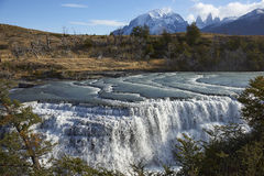 Cascada Paine in Torres del Paine National Park, Chile Stock Image