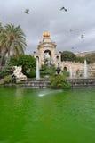 Cascada Parc de la ciutadella, Barcelona. Artificial water fall, built for 1888 Universal Exposition Stock Photos