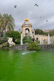 Cascada Parc de la ciutadella, Barcelona Stock Photos