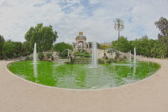 The Cascada in Parc de la Ciutadella Stock Photography