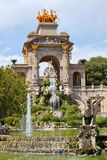 The Cascada in Parc de la Ciutadella in Barcelona. The Cascada triumphal arch with waterfall and fountain in Parc de la Ciutadella in Barcelona, Catalonia, Spain Royalty Free Stock Images
