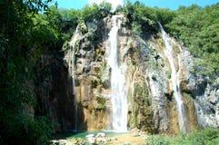 Cascada Parque nacional de los lagos Plitvice Fotografía de archivo libre de regalías